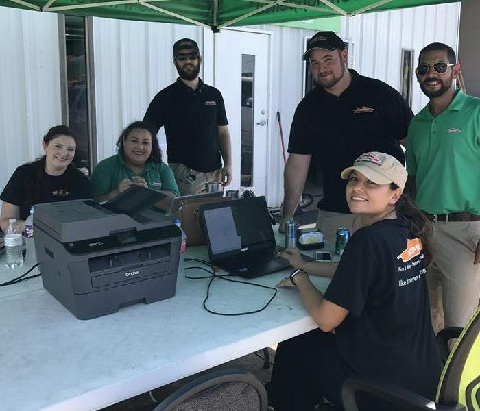 SERVPRO Team after Hurricane Harvey